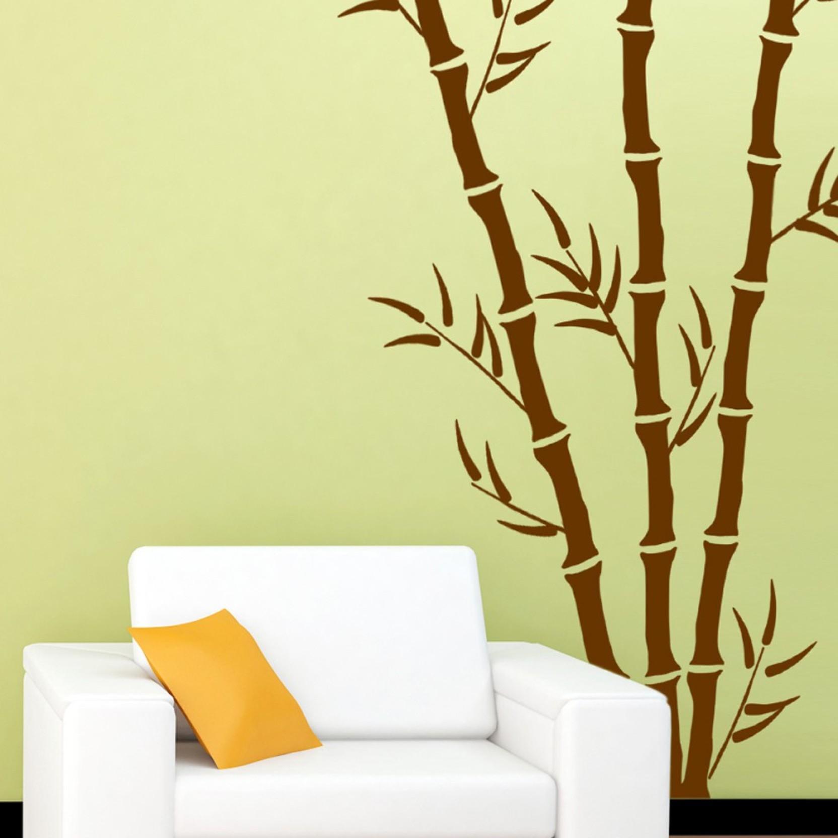 Arhat Stencils BAMBOO ASR-E127 GLOSSY PVC (Wall Décor & Art) Stencil ...