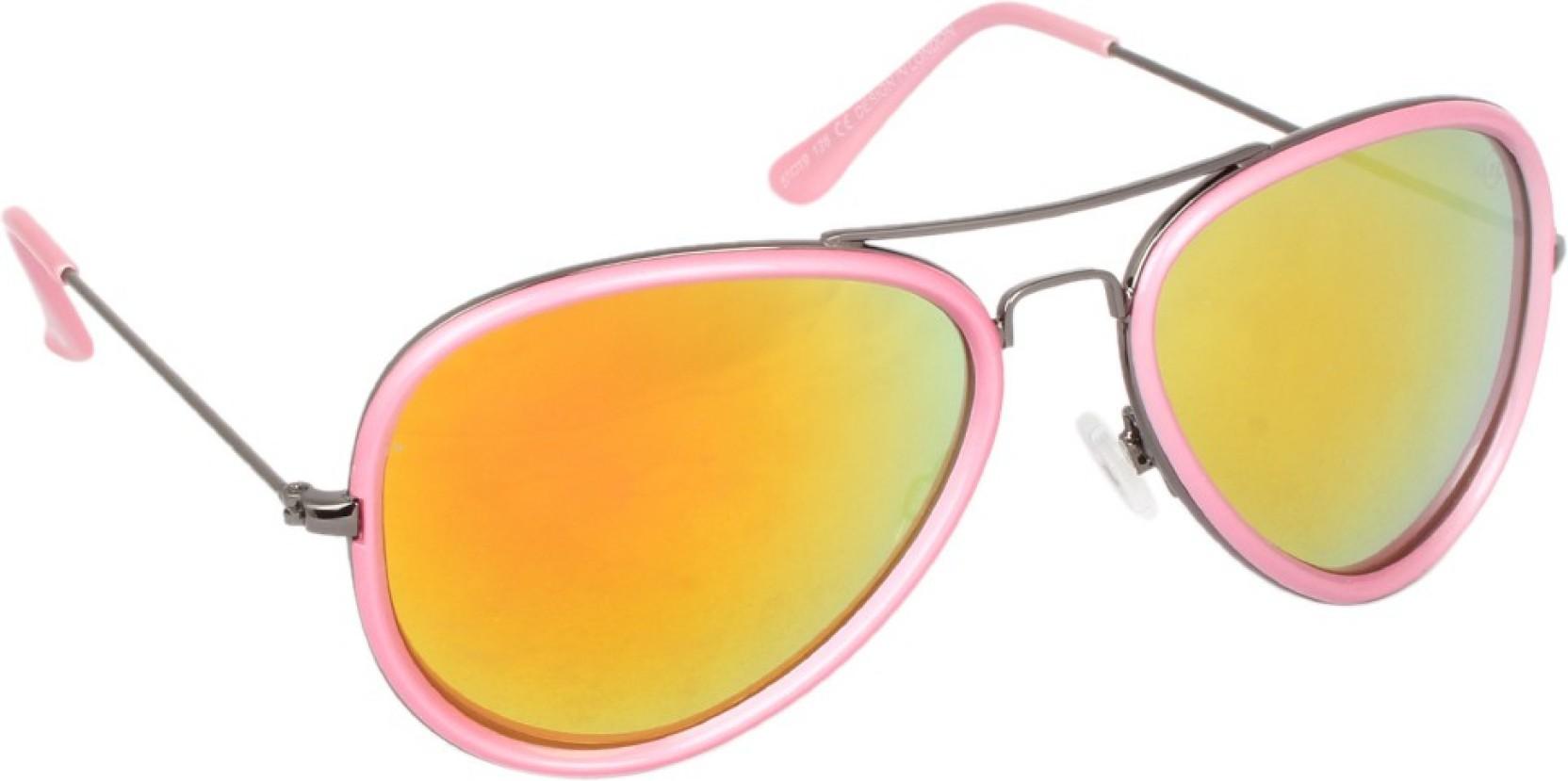 994dae0ade Buy Lee Cooper Aviator Sunglasses Pink For Men   Women Online   Best ...