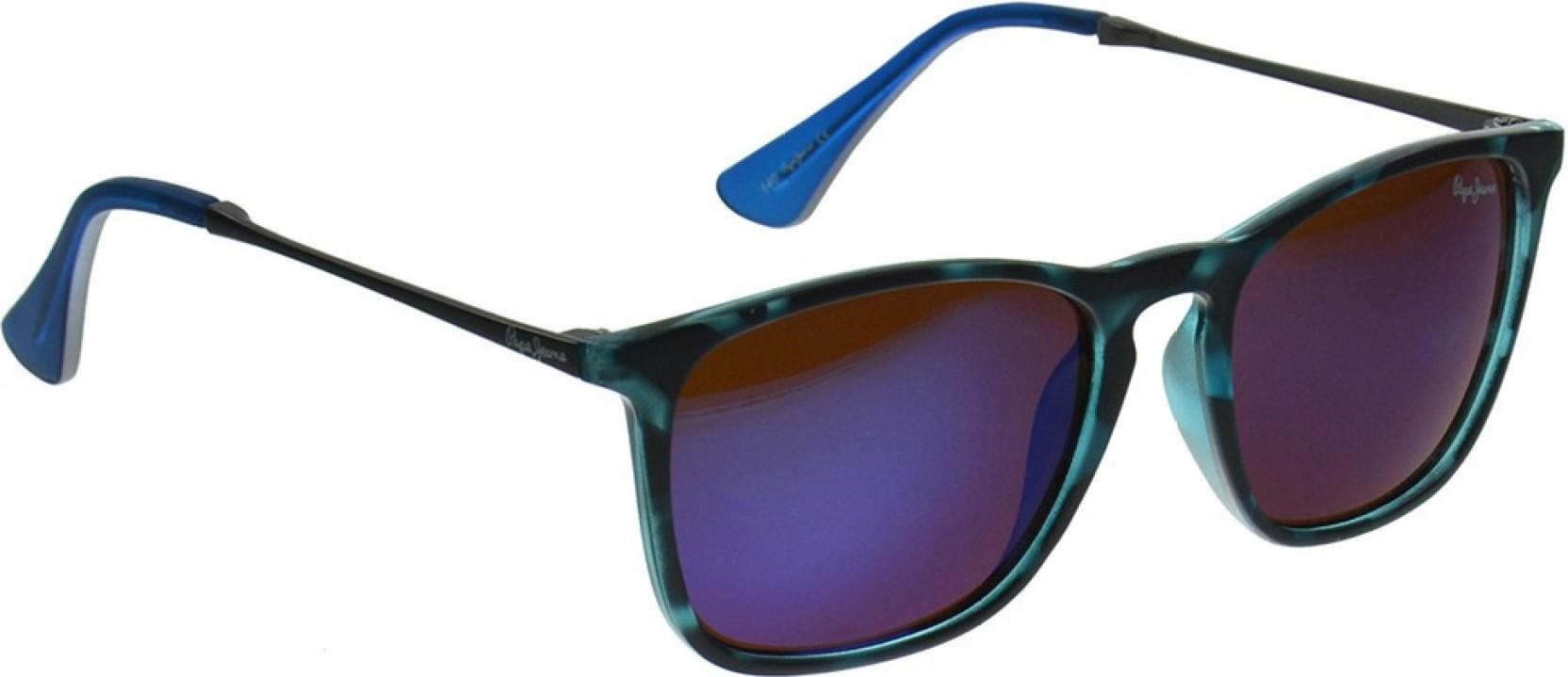 d41cf49fab Buy Pepe Jeans Wayfarer Sunglasses Blue For Men Online   Best Prices ...