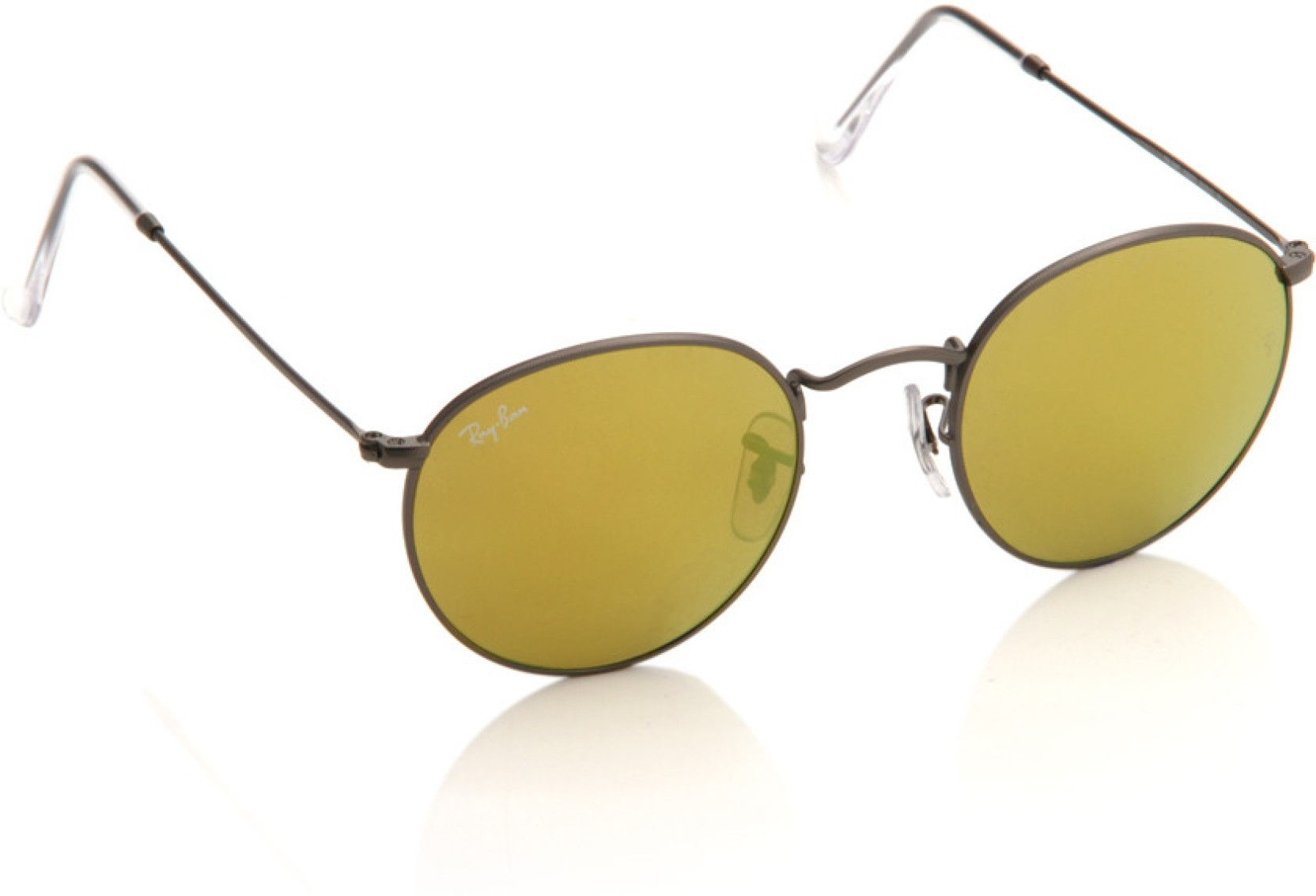 e01ffe1d75 Buy Ray-Ban Round Sunglasses Green For Men Online   Best Prices in ...
