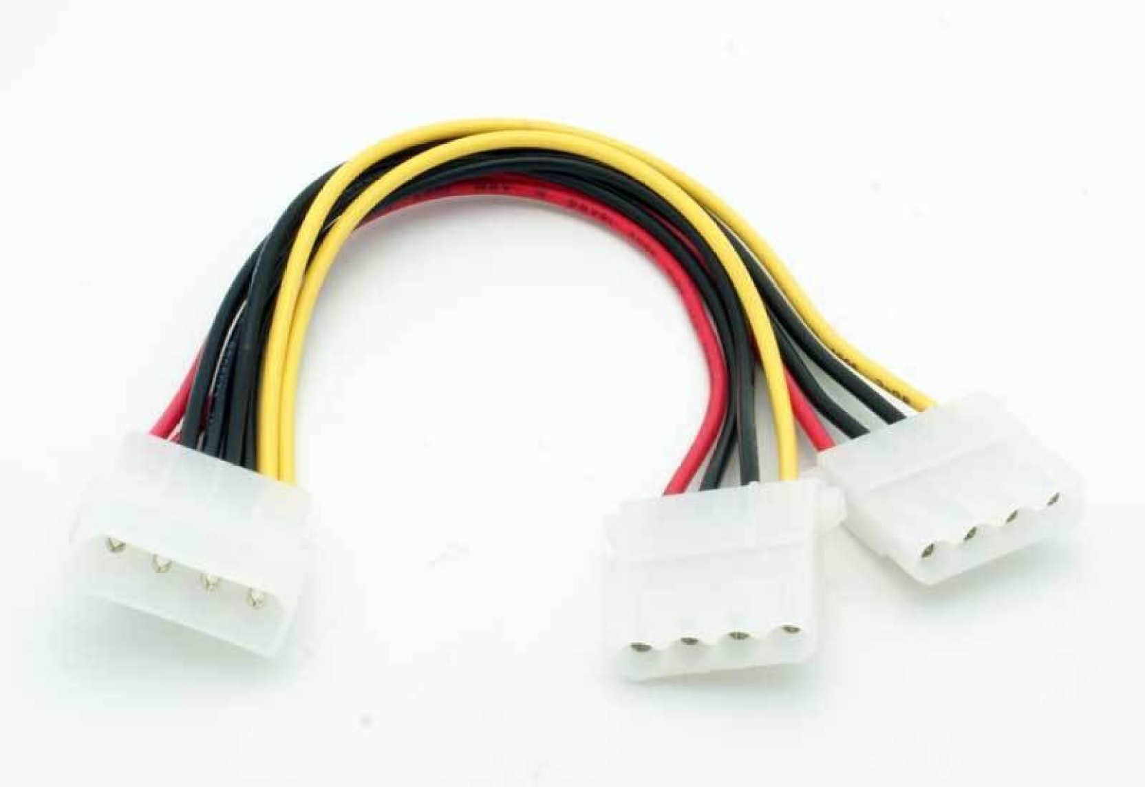 Techbyte 4 Pin Molex Power Supply Y Splitter Cable Pack Of 5 1 Fan 3pin To 2pin Extension Wire On Socket Surge Add Cart