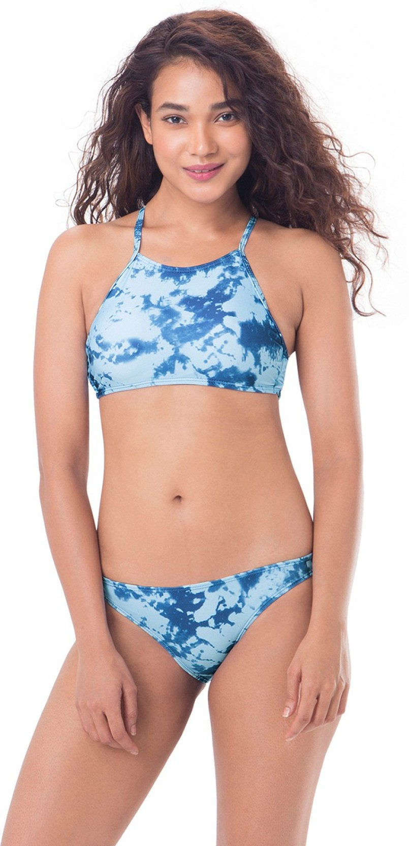 c560b7d046 PrettySecrets Graphic Print Women's Swimsuit - Buy Blue, Multi ...