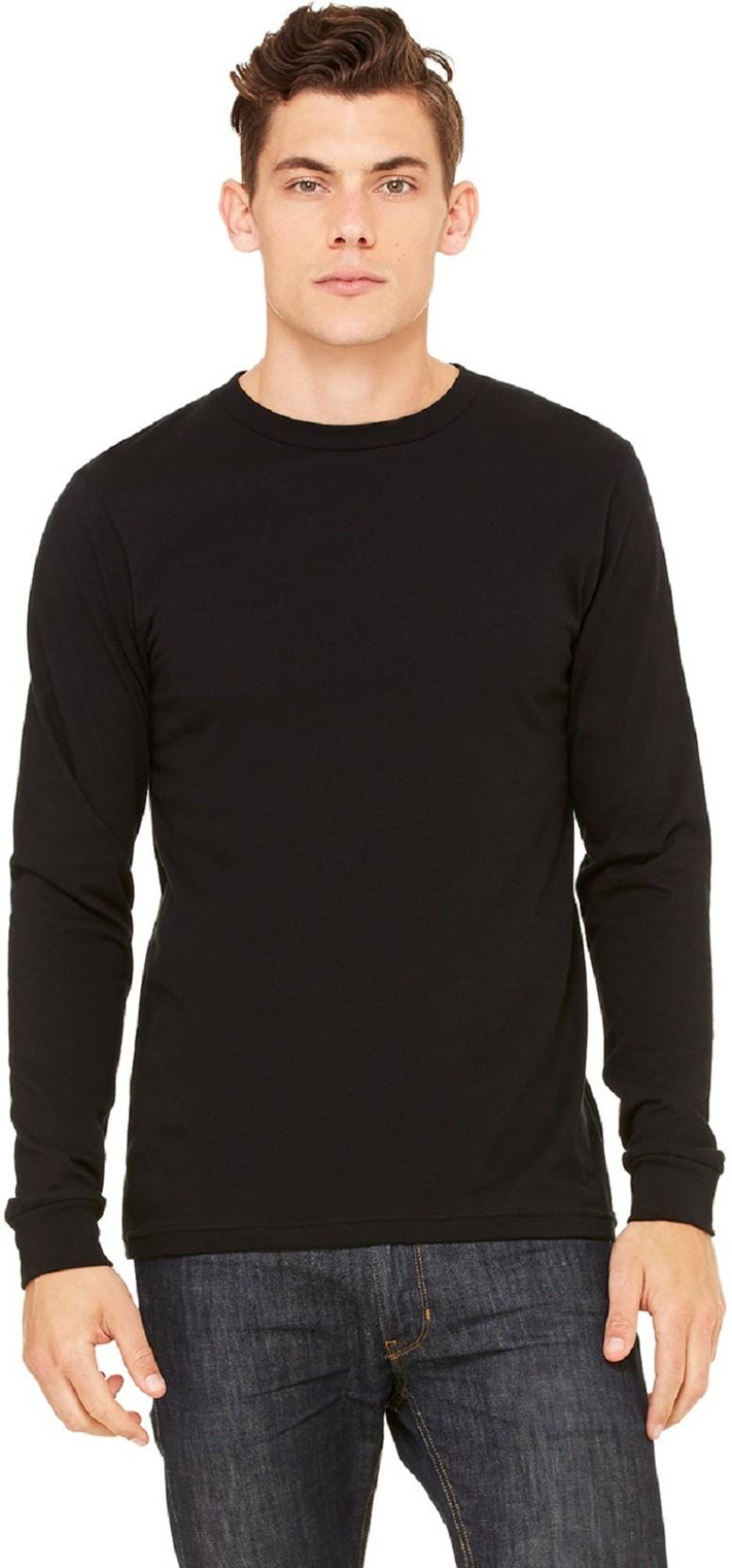 2d975b91937 The Archer Solid Men's Round Neck Black T-Shirt