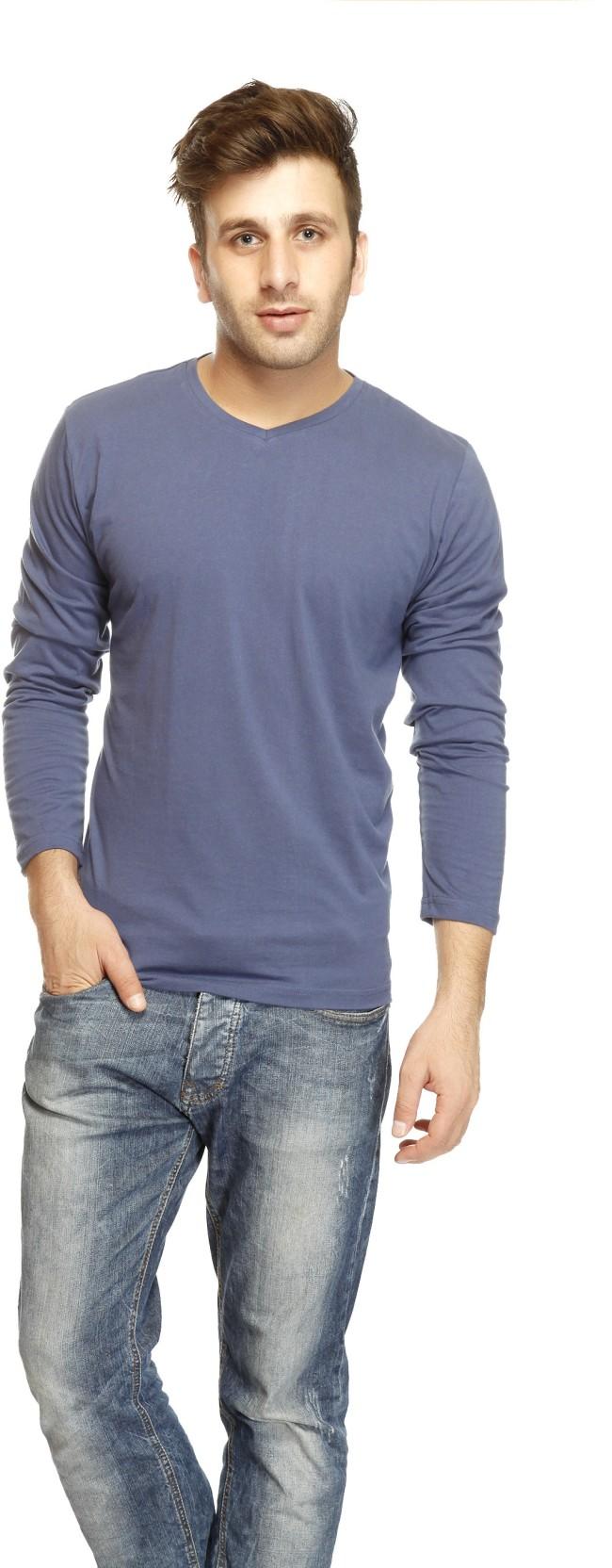 17a5bb7d37f Gritstones Solid Mens Turtleneck Black T Shirt