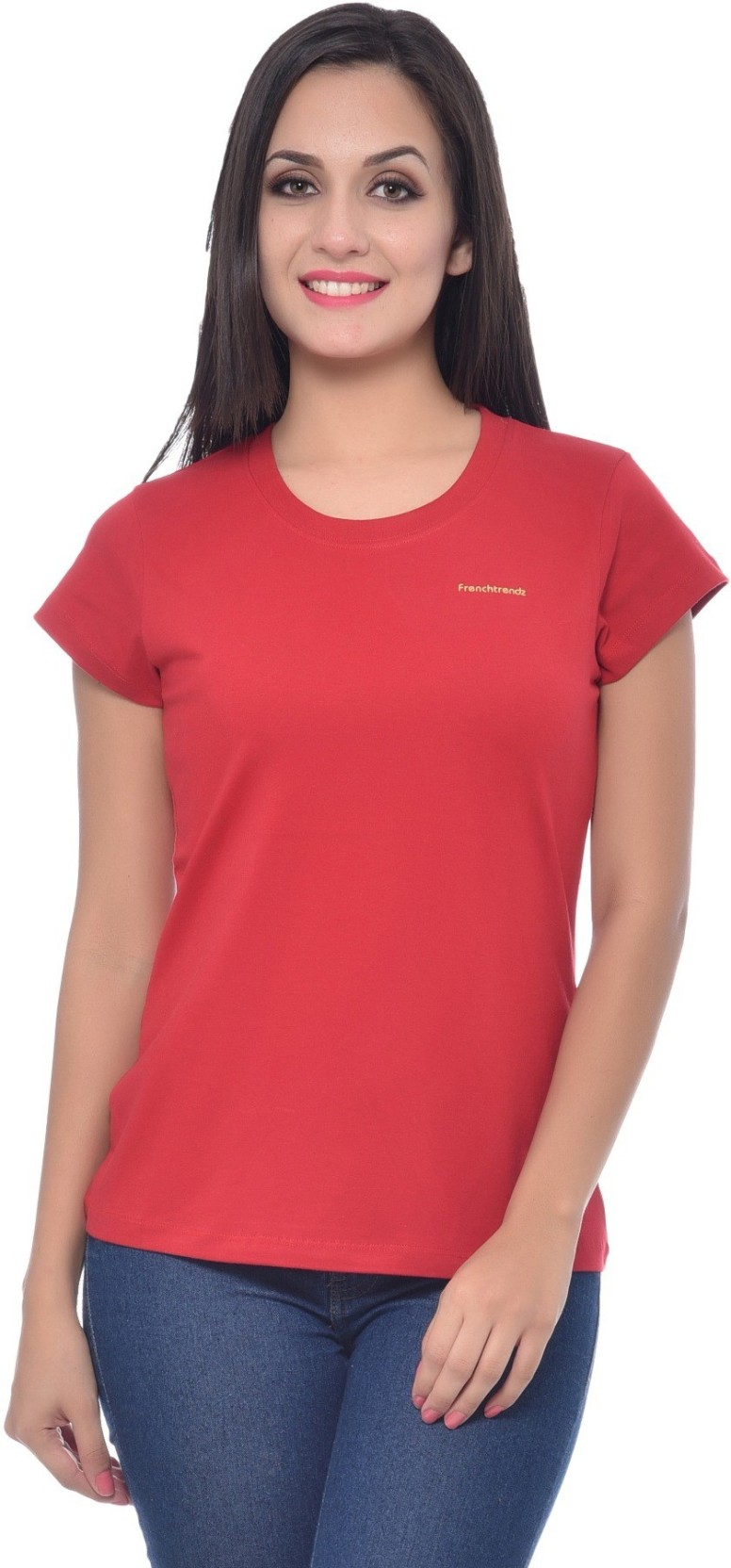 02bc4acbce48 Frenchtrendz Solid Women's Round Neck Red T-Shirt. ADD TO CART. BUY NOW