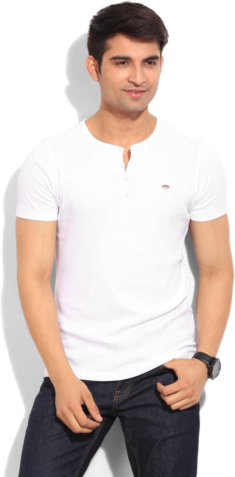 0118fd2a Numero Uno Solid Men's Henley White T-Shirt - Buy WHITE Numero Uno ...