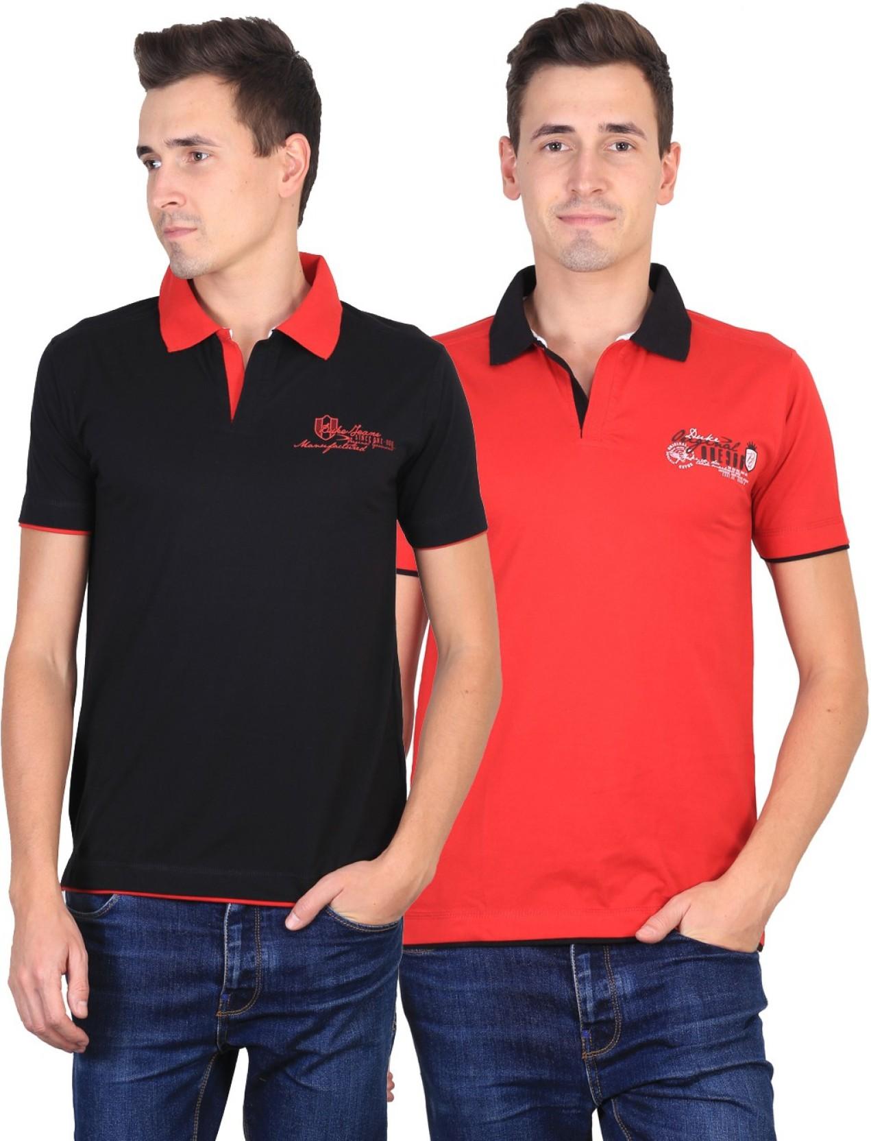 874e21a98 Buy Duke Pack Of 2 Striped Polo T Shirts - Tshirts ... - Myntra