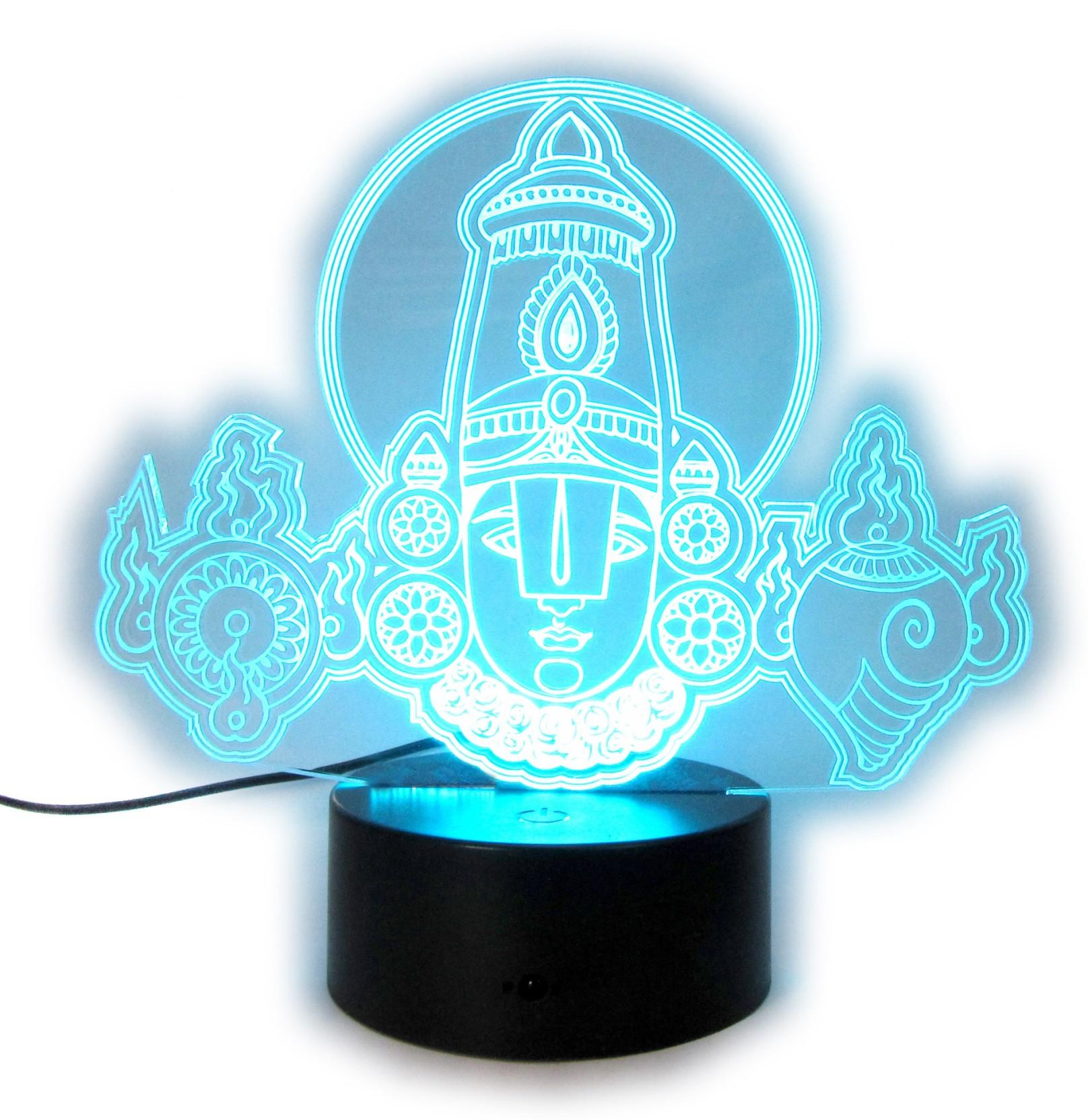 varna crafts Lampees 3D Illusion Balaji LED Night Lamp Price in ...