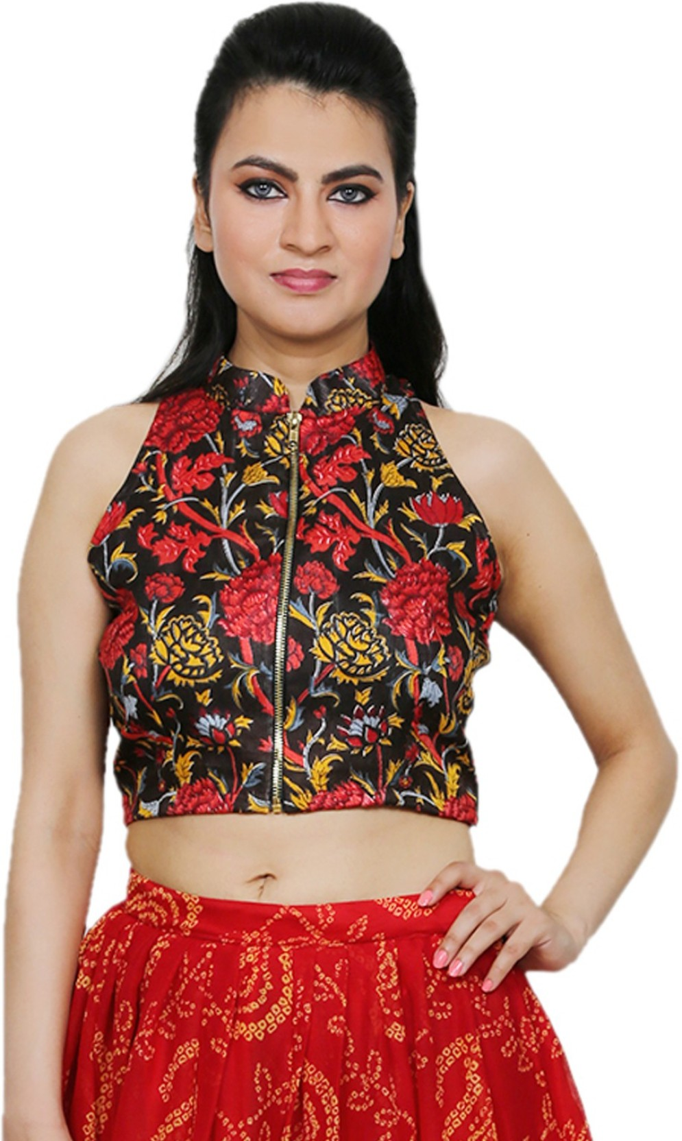 9a210d6620 Express 2 Impress Casual Sleeveless Floral Print Women s Red Top. Share