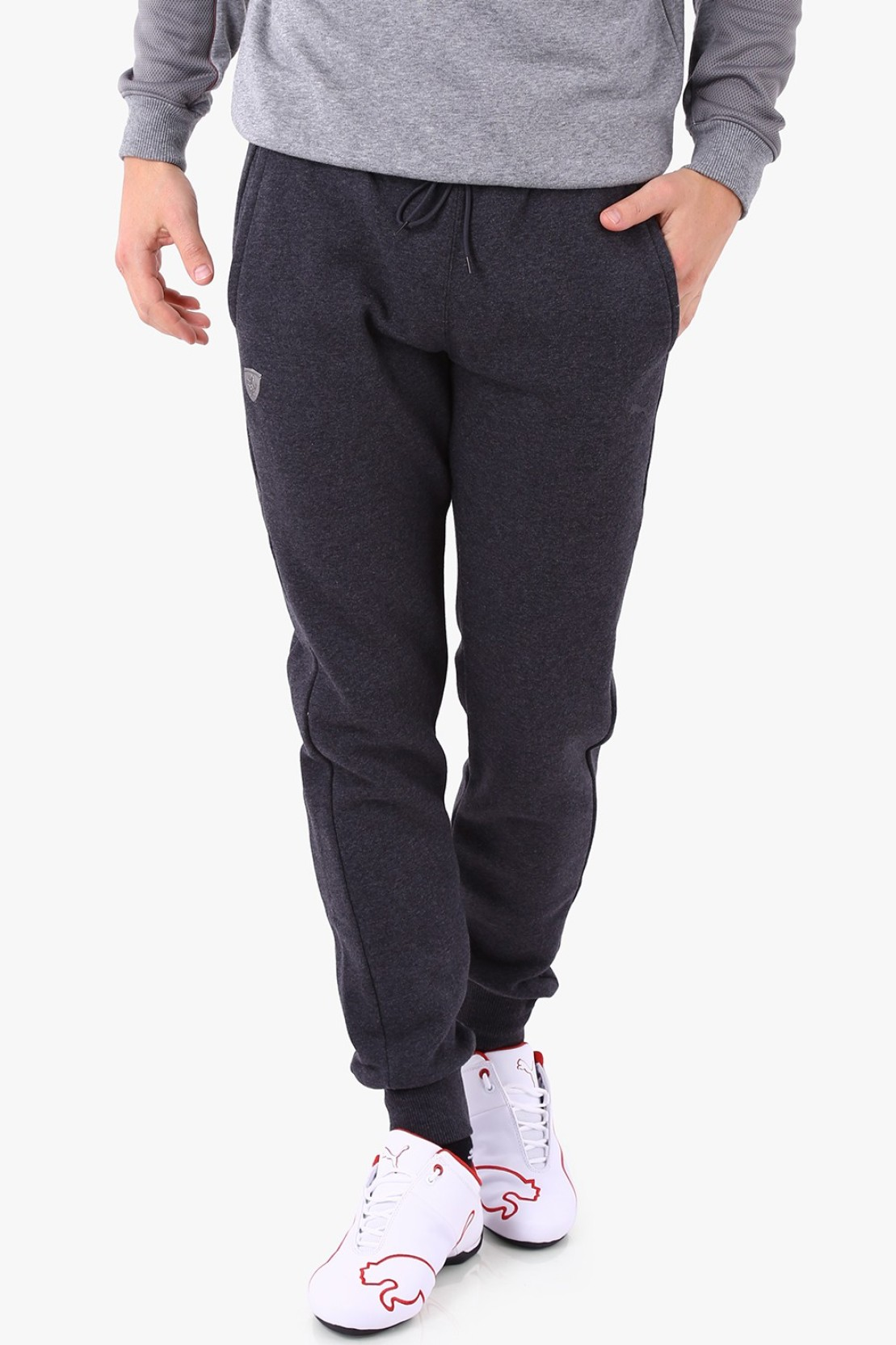 8a0cc4a1f Puma Ferrari Mens Track Pants Solid Men's Grey Track Pants