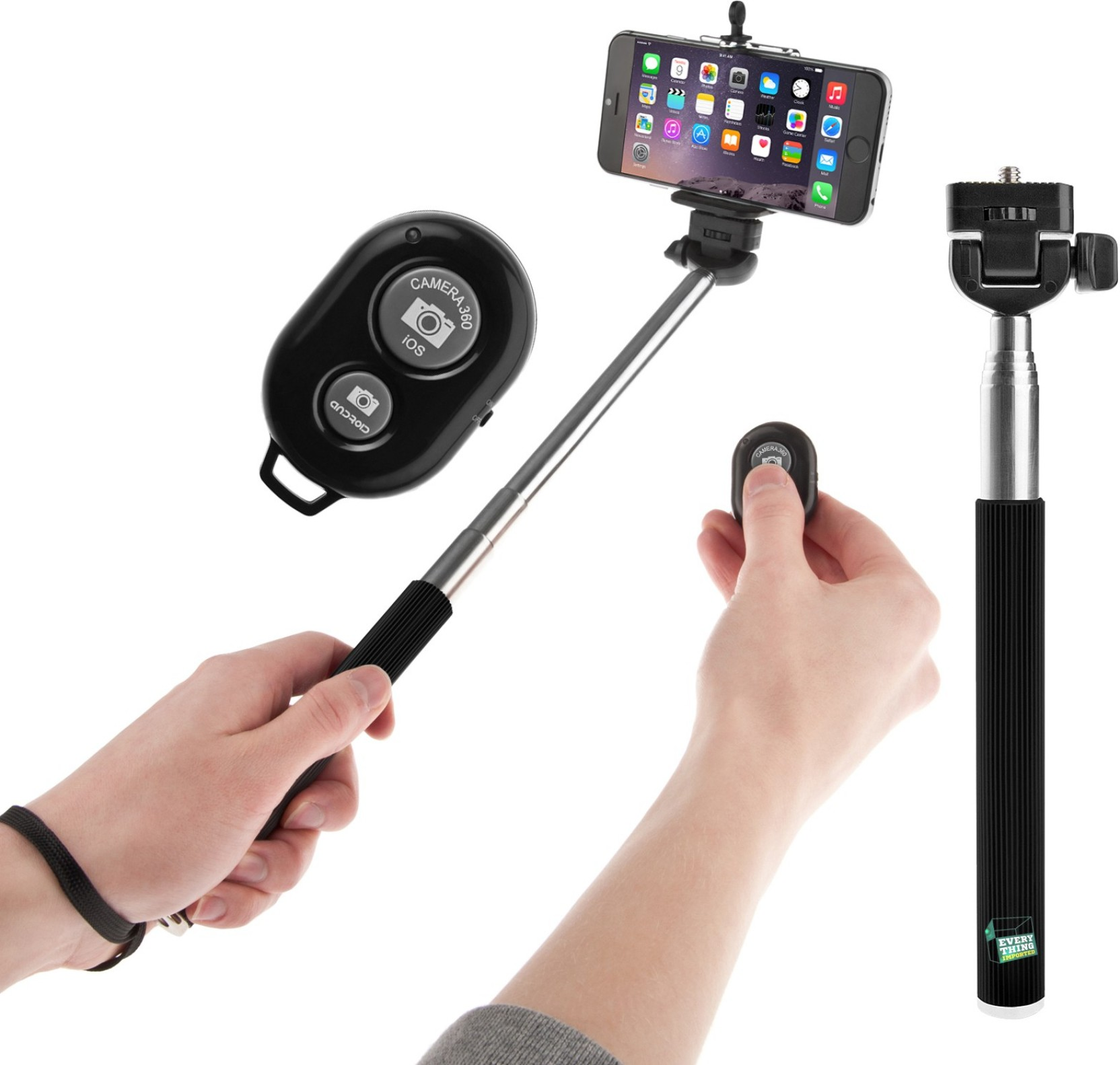 evana remote selfie stick selfie stick evana. Black Bedroom Furniture Sets. Home Design Ideas