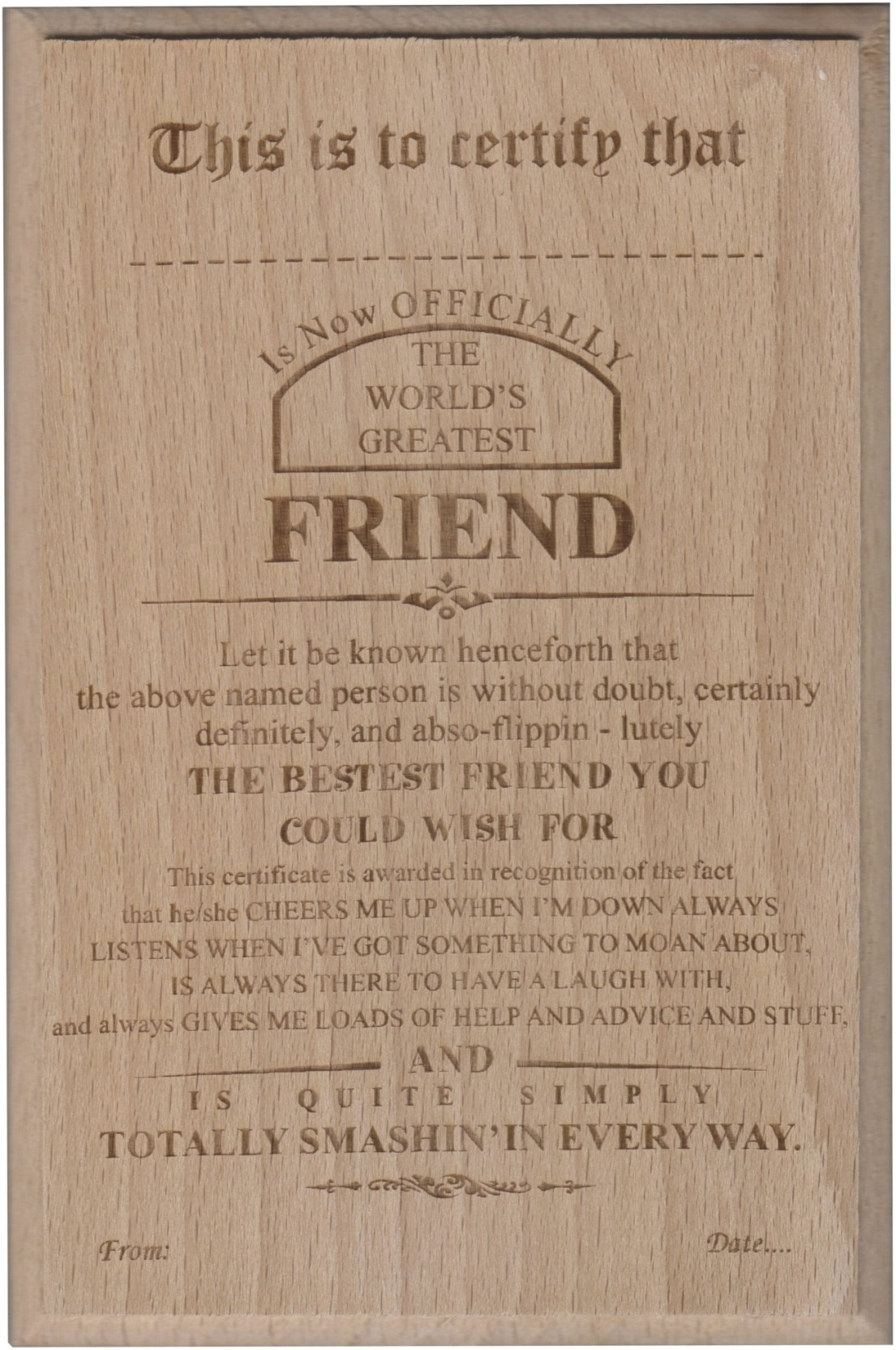 atpata funky world s best friend certificate award trophy price in