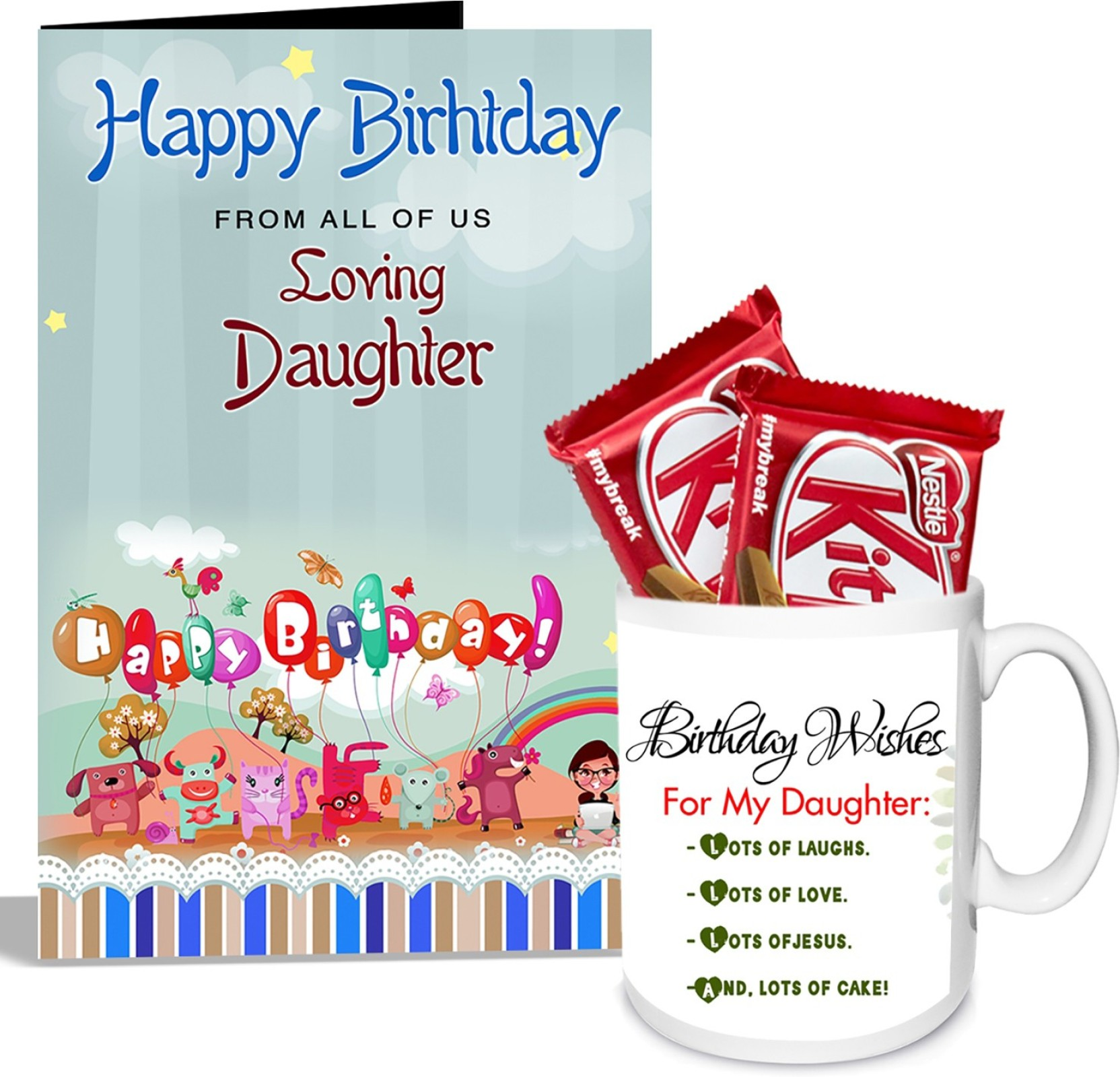 Alwaysgift Birthday Wishes For My Daughter Mug With Card Hamper Mug
