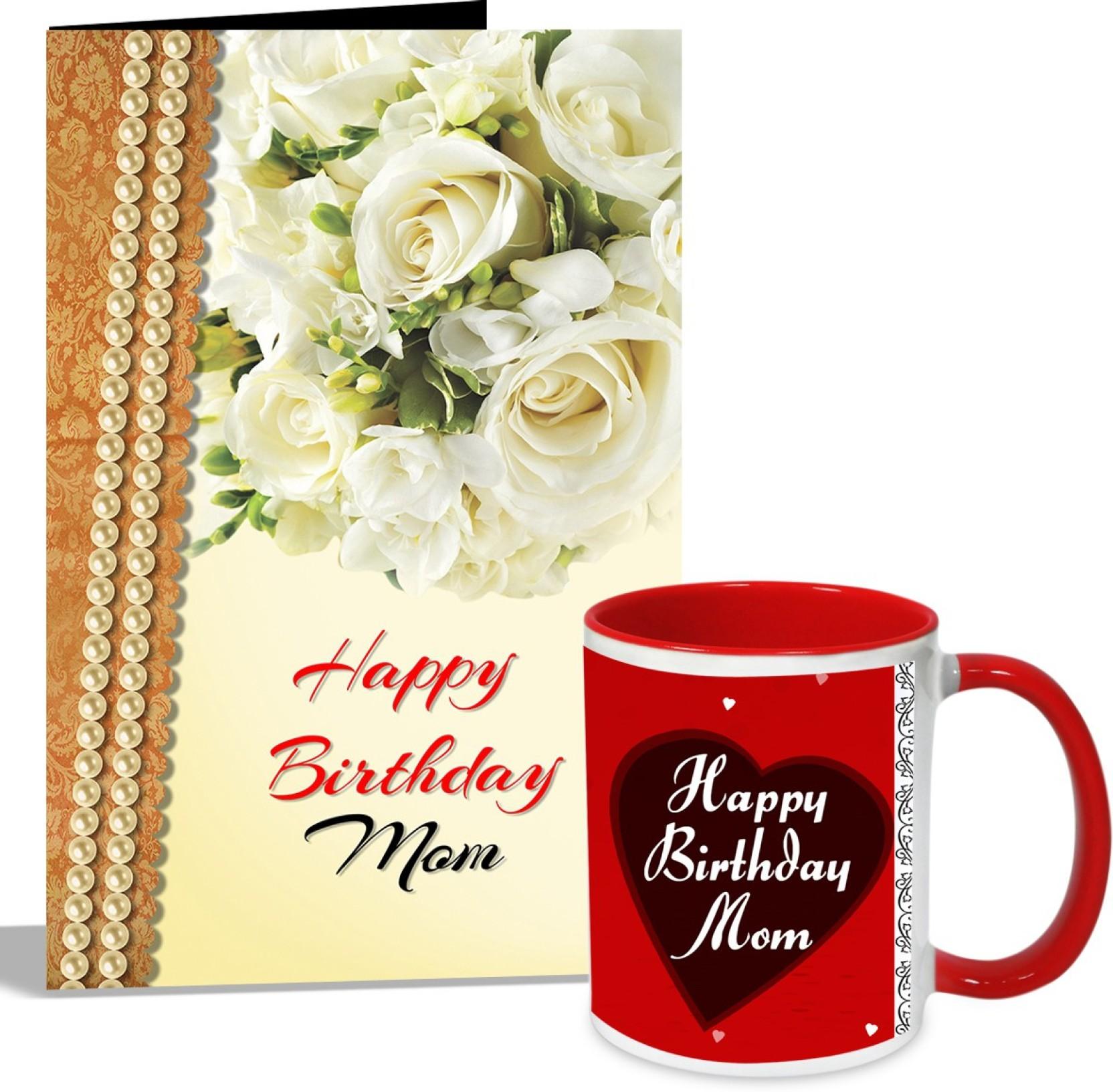Alwaysgift Happy Birthday Mom Mug With Card Hamper Greeting Card