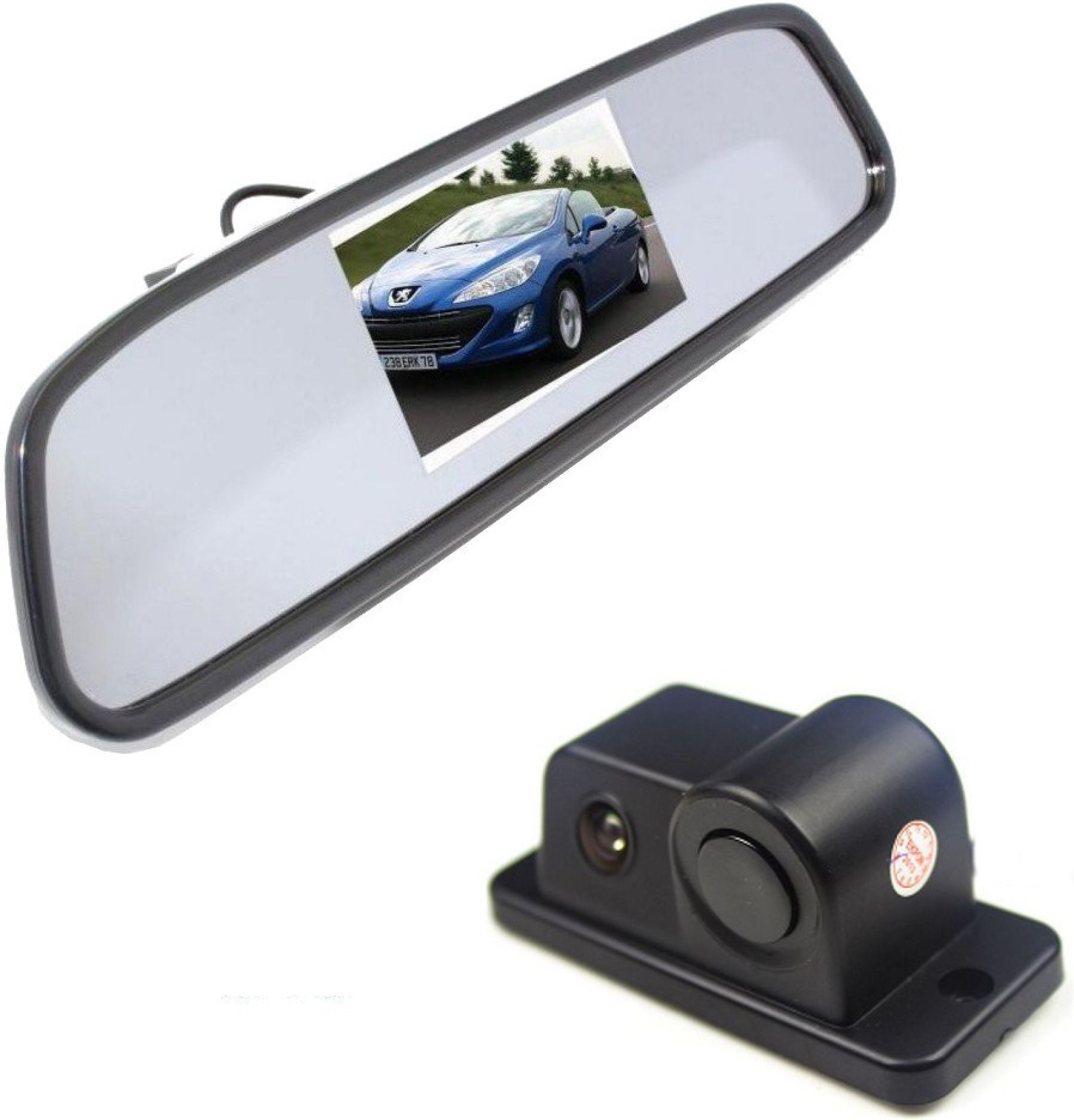 Alria 2 In1 Car Parking Reversing Radar Rear Camera With 43 Reverse Sensor Circuit For Security System Add To Cart