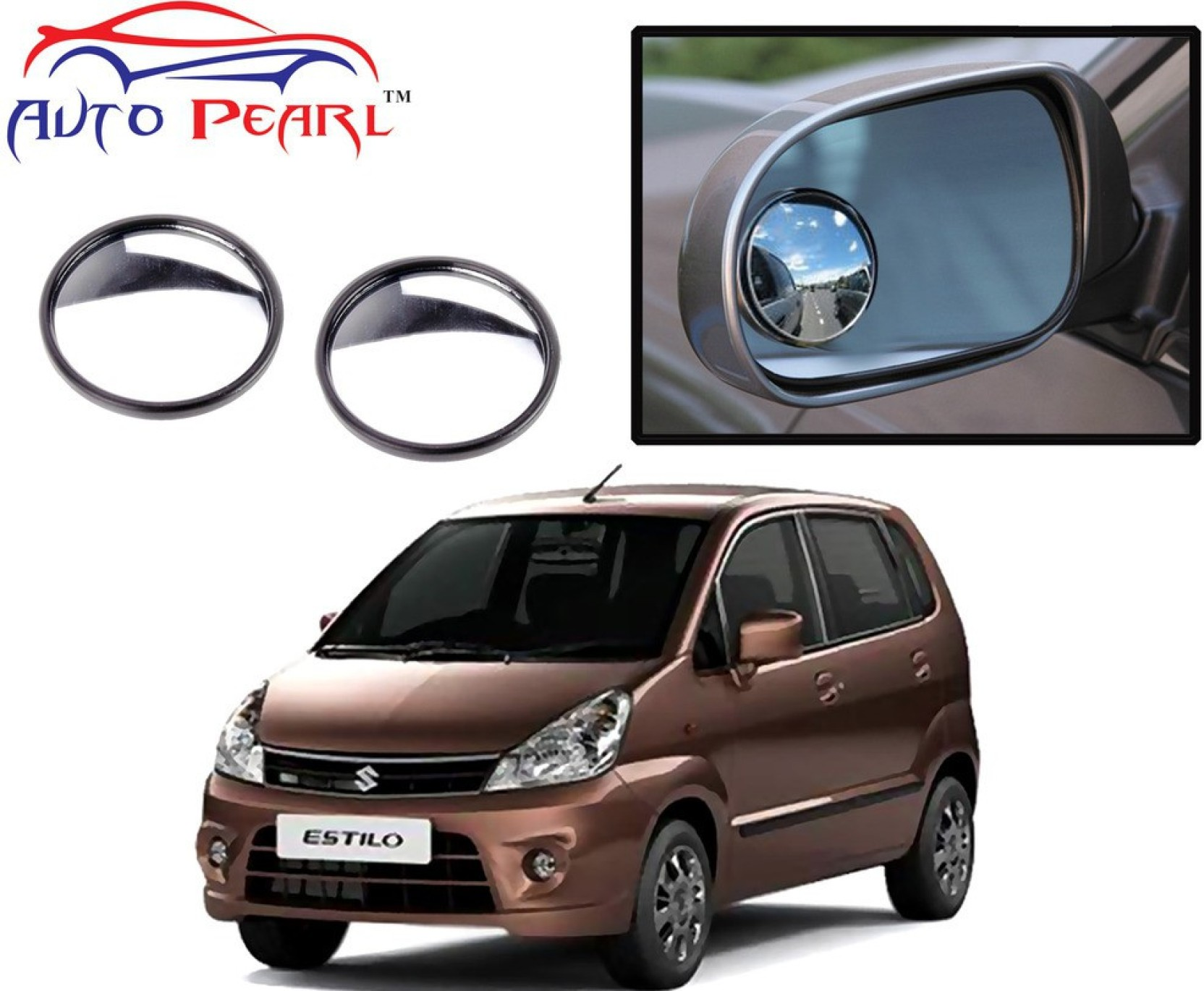Auto pearl manual rear view mirror for maruti suzuki zen estilo exterior
