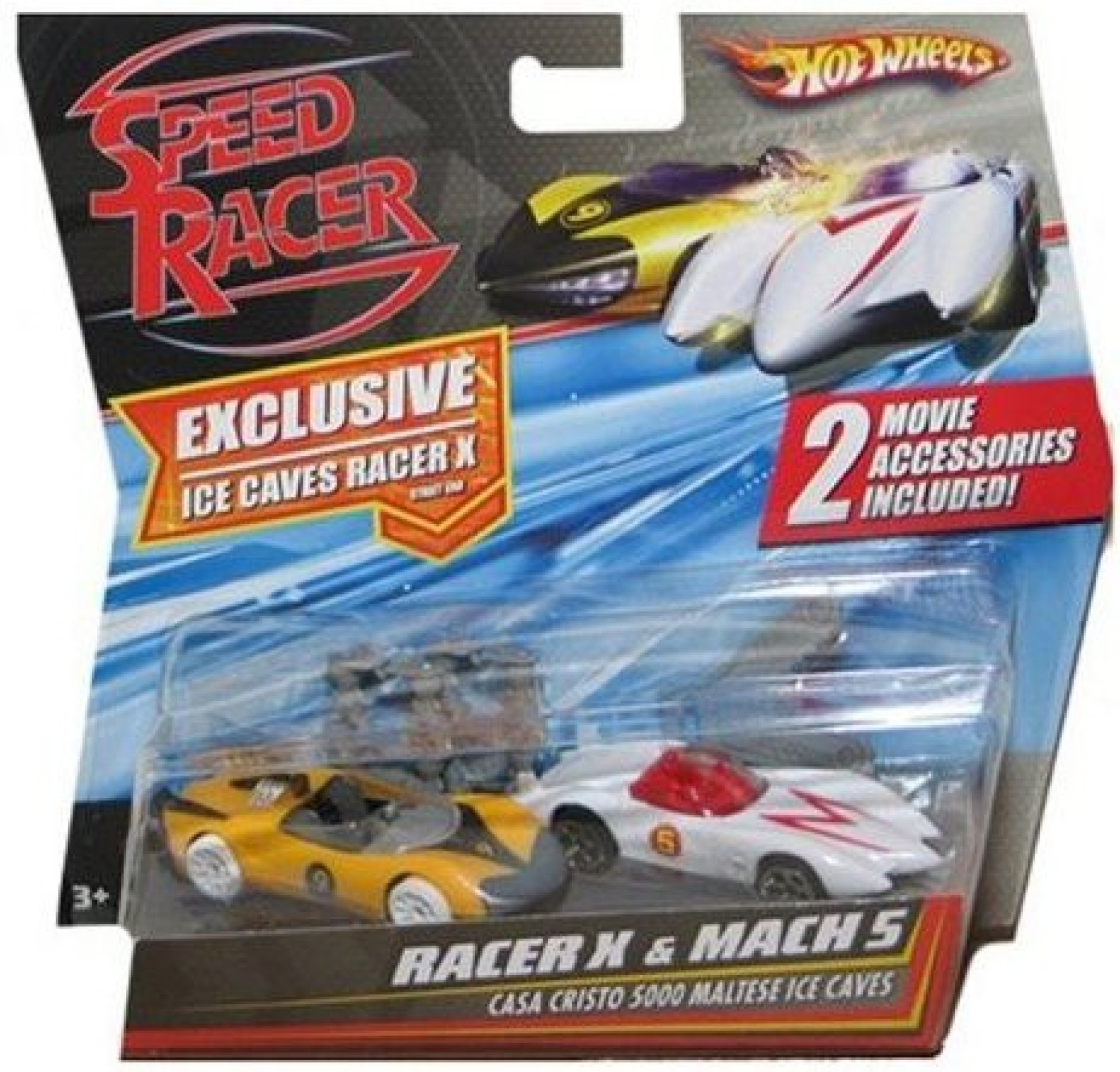Speed racer 164 hot wheels car 2pack racer x mach 5 multicolor