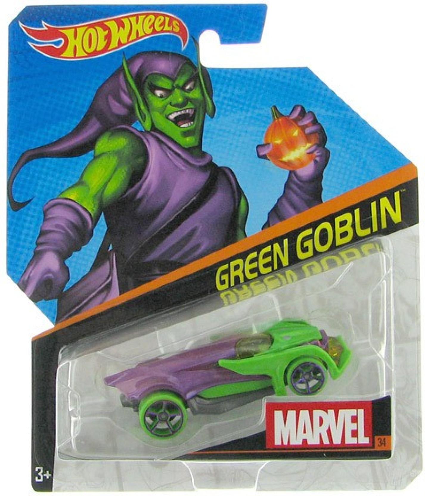Hot Wheels Marvel Character Car Green Goblin Djj50 Hotwheels 12 Camaro Zl1 Share