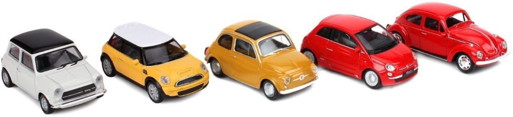 Welly NEX Model Die Cast 1:43 Scale Cars - Pack of 5 - NEX Model Die