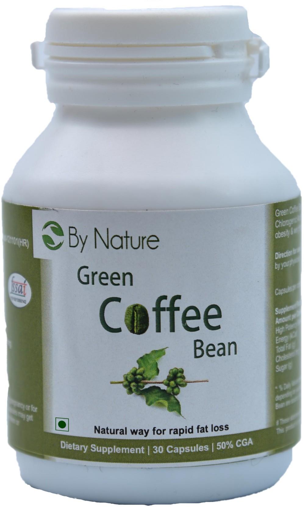 By Nature Green Coffee Bean Capsules Price In India Buy Capsule Pure Arabica Organic 60 Caps 30 No