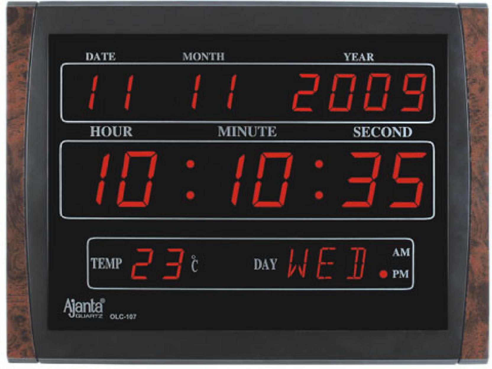 Ajanta Digital Wall Clock Price In India Buy Ajanta