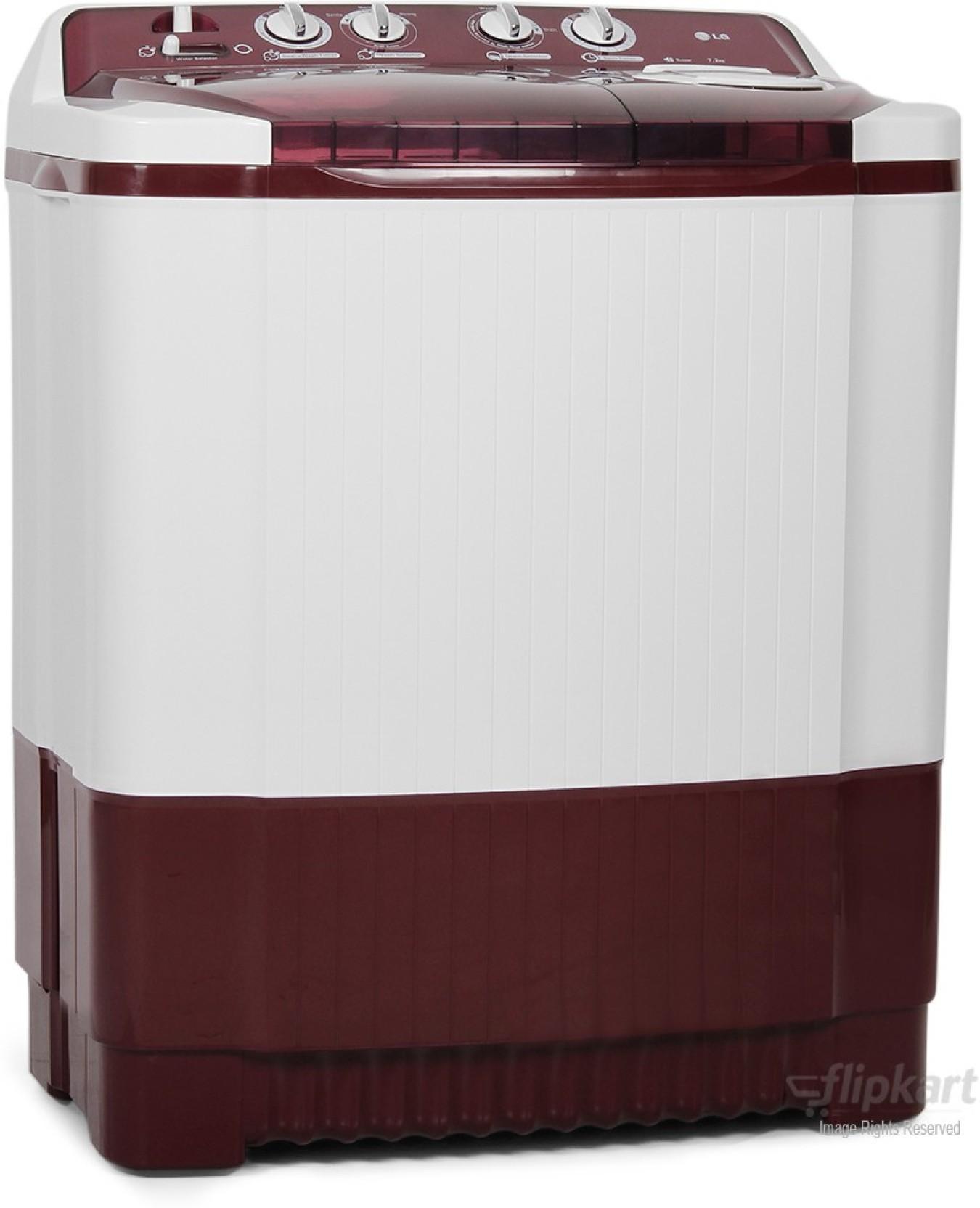 LG 7.2 kg Semi Automatic Top Load Washing Machine Red ...