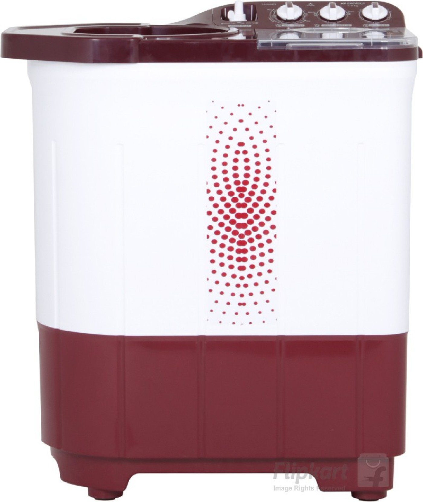 Sansui 6 kg Semi Automatic Top Load Washing Machine Maroon ...