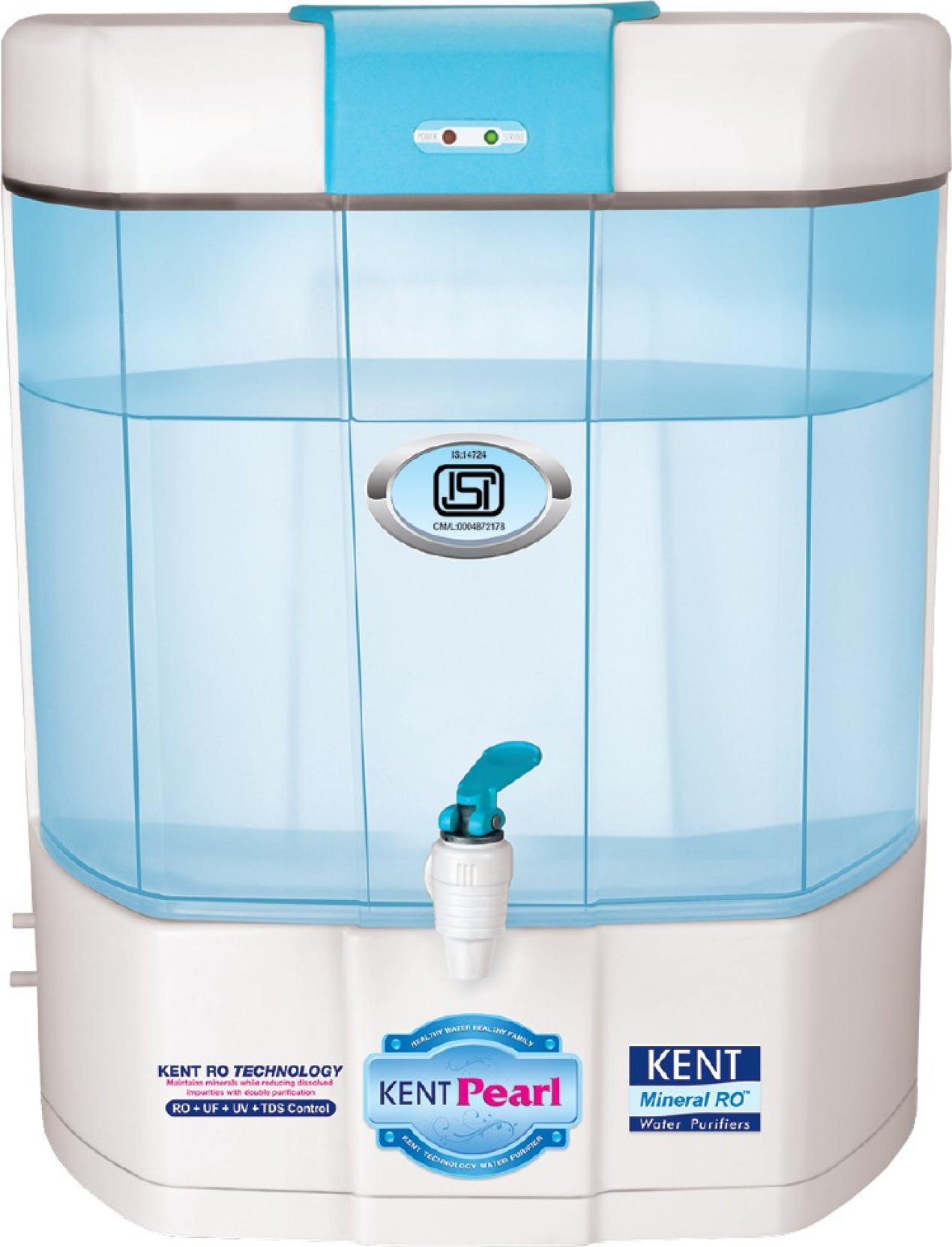Kent Pearl Mineral Ro 8 L Ro Uv Uf Water Purifier