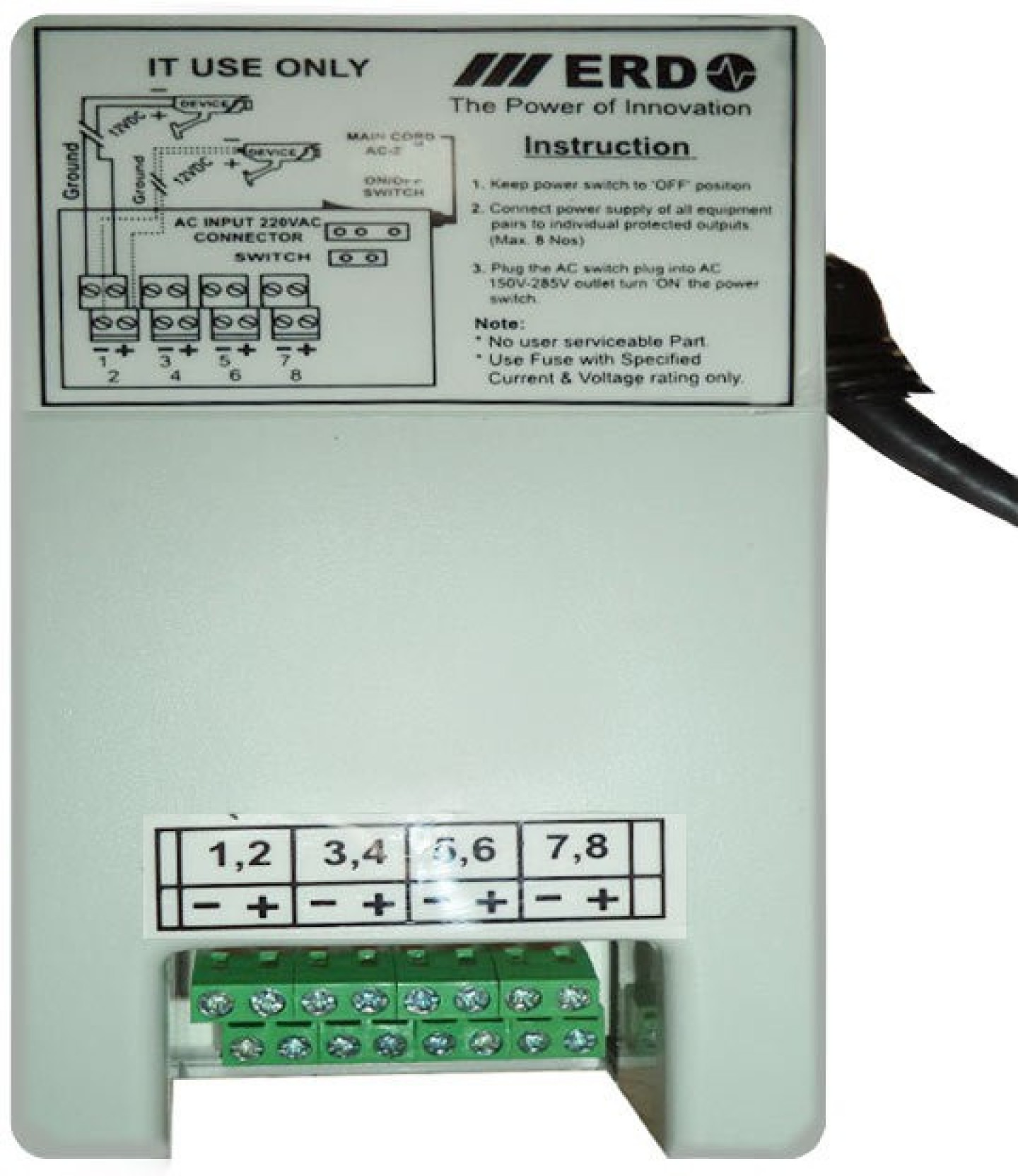 Erd 8 Channel Power Supply For Cctv Night Vision Cameras Worldwide Adapter Fuse Box Add To Cart