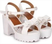 Stepee Women White Heels - Buy Stepee