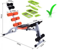 Golden Star Six Pack Ab Exerciser(Orange, Black)