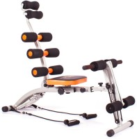 Evana Six Packs Ab Builder Full Body Abdominal Back Leg Arms Exercise Machine Ab Exerciser(Black, Orange)