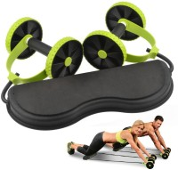 TAG3 (Tm) Imported Roller Sport Fitness Equipment Abdominal Power Wheels Core Double Crossfit Power Training Ab Exerciser(Green)