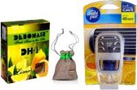 Debonair Debonair Lime, Ambi Pur Sweet Citrus (7.5ml) Car Freshener Gel(27.5 G) Image