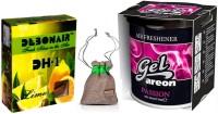 Debonair Debonair Lime, Areon Gel Passion (80ml) Car Freshener Gel(100 g)