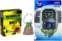 Debonair Debonair Lime, Ambi Pur Aqua (7.5ml) Car Freshener Gel(27.5 G) Image