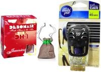 Debonair Debonair Jasmine, Ambi Pur Vanilla Bouquet (7.5ml) Car Freshener Gel(27.5 G) Image