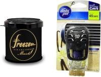 Debonair Debonair Musk, Ambi Pur Vanilla Bouquet (7.5ml) Car Freshener Gel(107.5 G) Image