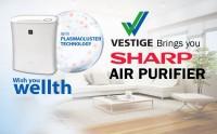View Vestige FP-F30E-H Portable Room Air Purifier(White) Home Appliances Price Online(Vestige)