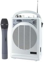 Medha Portable Wireless Rechargeable PA System with inbuilt Speaker & Mic + USB Player & FM 20 W AV Power Amplifier(Black, White)