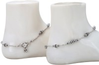 Siri Creations Rings Design Silver 92.5 Silver Anklet(Pack of 2)