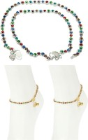 Charms Combo Of Diva Precious Alloy Anklet(Pack of 4)