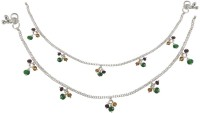 Rejewel Silver Plated Payal Alloy Anklet(Pack of 2)