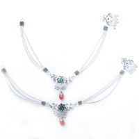Charms Diva Precious Alloy Anklet(Pack of 2)