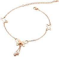 Yellow Chimes Butterfly Anklet Alloy Anklet