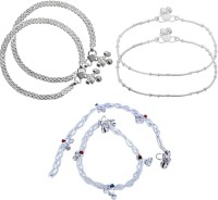 Charms royal piraj charming Alloy Anklet(Pack of 6)