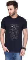 Koolpals Printed Men Round Neck Blue T-Shirt