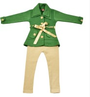 Addyvero Girls Party(Festive) Jacket Jegging(Green)