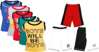 Gkidz Boys Casual Vest Shorts(Multicolor)