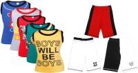 Gkidz Boys Casual Vest Shorts(Multicolor)
